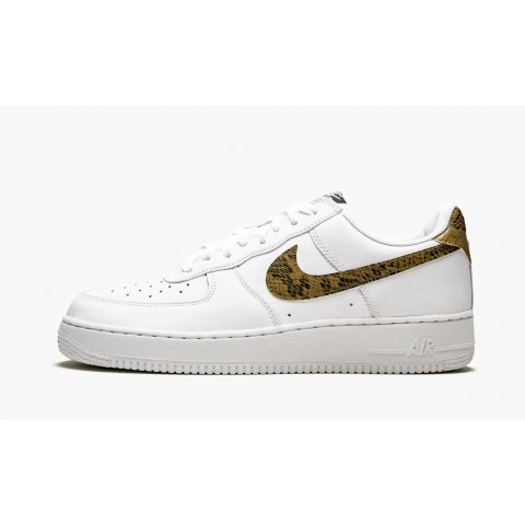 Nike Air Force 1 Low Ivory Snake Branco/Ouro Elemental AO1635-100